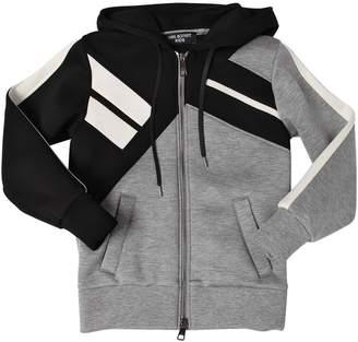 Neil Barrett Zip-Up Hooded Double Jersey Sweatshirt