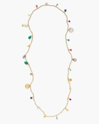 Multi-Colored Seed Bead Single-Strand Necklace