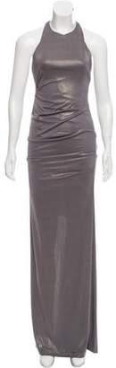 Nicole Miller Metallic Sleeveless Maxi Dress w/ Tags