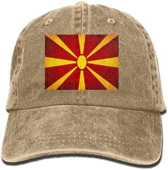GHEDPO Macedonian Flag Unisex Adult Denim Dad Baseball Hat Sports Outdoor  Cowboy Cap for Men and 489af8daa5a9