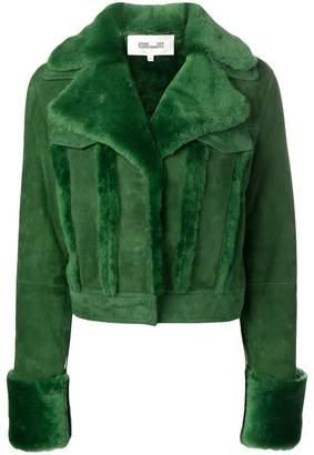 Diane von Furstenberg shearling jacket