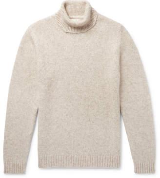 Privee SALLE Leo Mélange Alpaca-Blend Rollneck Sweater