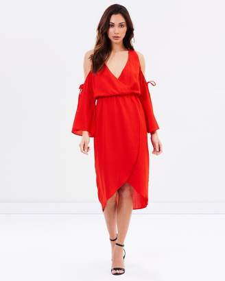 Atmos & Here ICONIC EXCLUSIVE - Vanity Cold Shoulder Wrap Dress