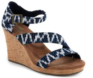TOMS Clarissa Ankle Strap Wedge Sandal $69 thestylecure.com