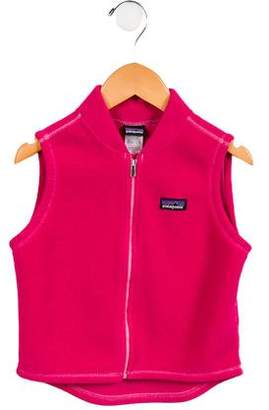Patagonia Girls' Fleece Zip-Up Vest