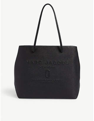 Marc Jacobs Black Logo East-West Leather Tote Bag