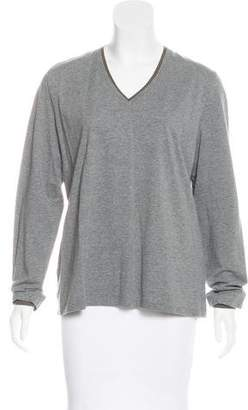 Rivamonti V-Neck Long Sleeve Top