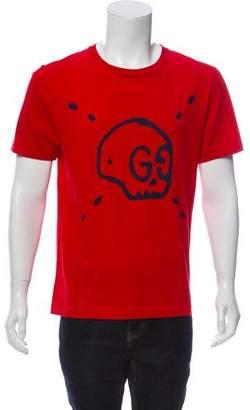 Gucci 2016 GucciGhost Skull T-Shirt