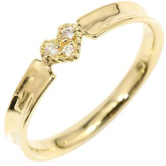 Star Jewelry 18K Yellow Gold & 0.02ct Diamond Heart Ring Size 5