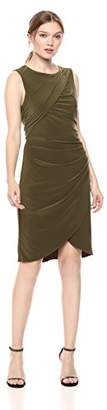 Adrianna Papell Women's Matte Jersey Gathered Sheath Dress