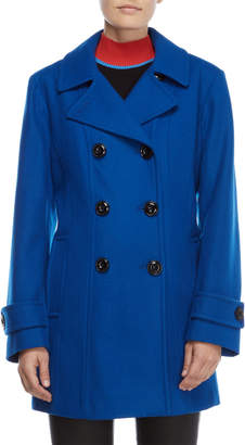 Anne Klein Petite Double-Breasted Coat