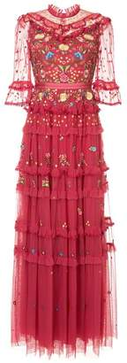 Needle & Thread embroidered long dress