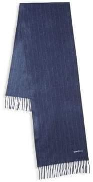 Hickey Freeman Chalk Stripe Cashmere Scarf