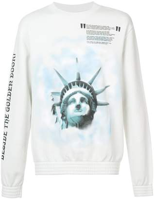 Off-White Liberty crew neck sweatshirt