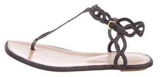 Sergio Rossi Glitter Thong Sandals