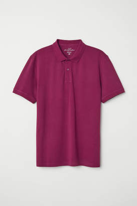 H&M Short-sleeved Polo Shirt - Pink