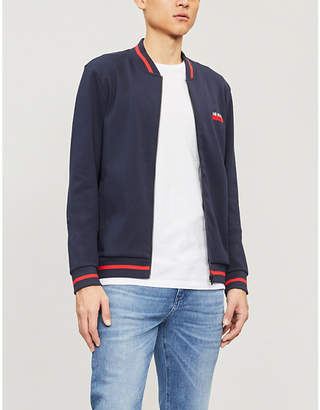 HUGO Logo-print cotton-jersey jacket