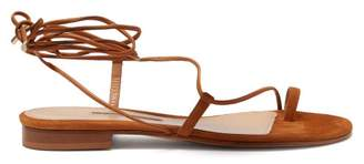 Emme Parsons Susan Wrap Around Suede Sandals - Womens - Tan
