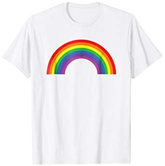 Rainbow Shirt ~ Distressed Old Looking Plain 80s Inspired
