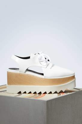 Stella McCartney Elyse cut-out derby shoes