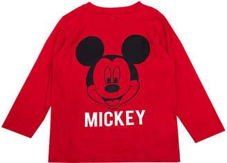 DISNEY MICKEY MOUSE Disney Boys Crew Neck Long Sleeve Mickey Mouse T-Shirt-Toddler