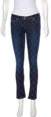 Etoile Isabel Marant Low-Rise Quilted Jeans