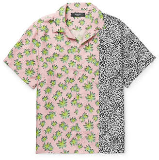 Amiri Camp-Collar Printed Silk Shirt
