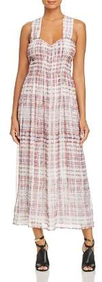 Burberry Delilah Silk Plaid Maxi Dress