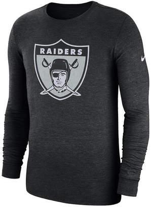 Nike Men's Oakland Raiders Historic Crackle Long Sleeve Tri-Blend T-Shirt