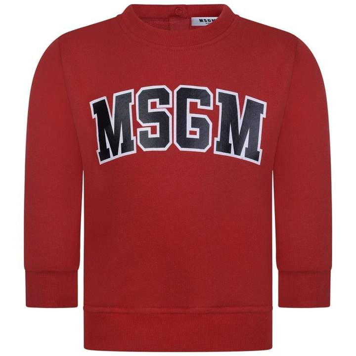 MSGMBaby Boys Red Logo Sweater