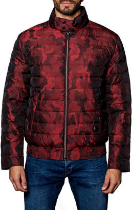Jared Lang Chicago Lightweight Camo Quilted Puffer Jacket, Red