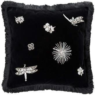 Roberto Cavalli Diamonds Reversible Cushion - Black - 40x40cm
