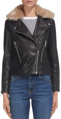 Whistles Toscana Leather Moto Jacket