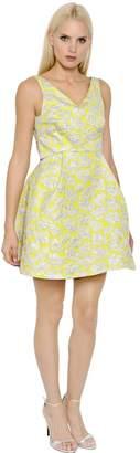 Cut Out Brocade Dress