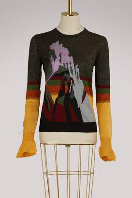 Marco De Vincenzo Lurex jacquard crew neck sweater