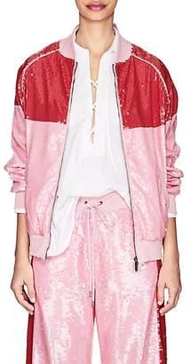 Alberta Ferretti Women's Sequin-Embellished Track Jacket - Pink
