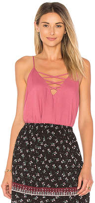 Ella Moss Lace Up Cami in Pink $108 thestylecure.com