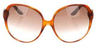 Christian Dior Tortoiseshell Oversize Sunglasses