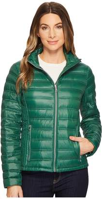 Calvin Klein Short Packable Down with Hood Women's Coat