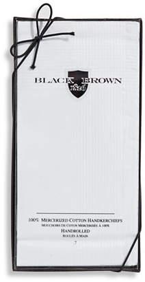 Black Brown 1826 7 Pack Handrolled Mercerized Cotton Handkerchiefs
