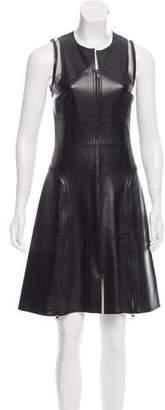 Ralph Rucci Sleeveless Leather Dress