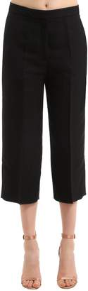 Rochas Crepe Satin Cropped Pants