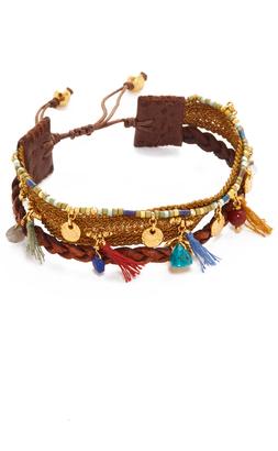 Chan Luu Braided Leather Bracelet $195 thestylecure.com