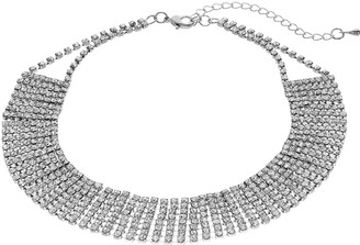 Crystal Avenue Cup Chain Wide Choker Necklace