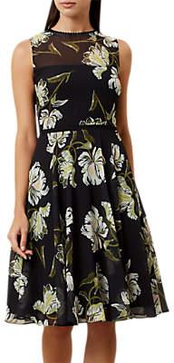 Hobbs Eve Dress, Black/Multi