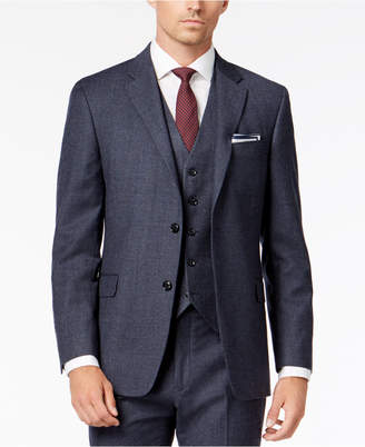 Tommy Hilfiger Men's Modern-Fit Th Flex Stretch Light Blue Plaid Suit Jacket