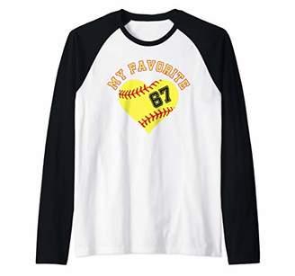 Softball Player 67 Jersey Outfit No Sports Fan Gift Raglan Baseball Tee