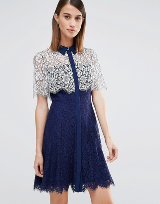 Whistles Charlotte Lace Dress $294 thestylecure.com