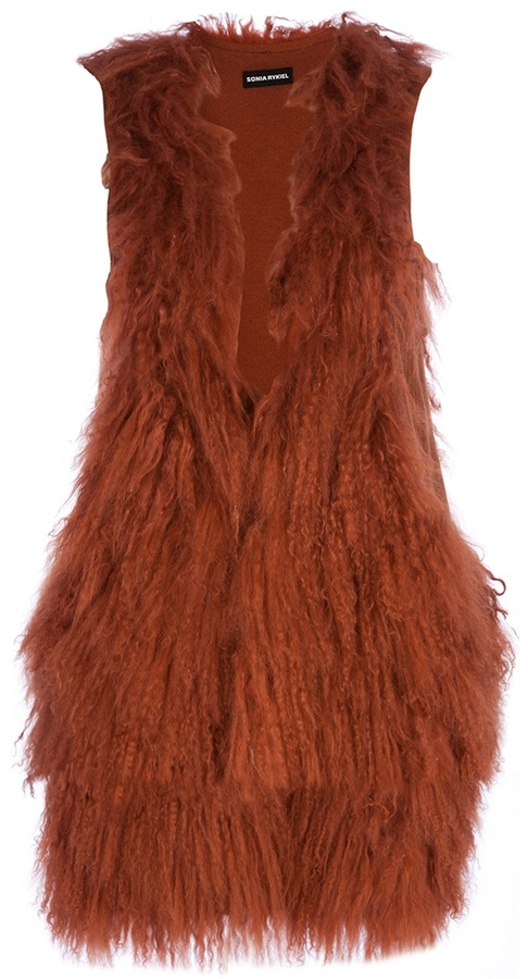 Sonia Rykiel Goat fur waistcoat
