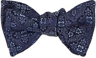 Penrose London Men's Floral Cotton-Silk Jacquard Bow Tie